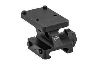 Trijicon RMR quick release lower 1/3rd cowitness mount places RMR and SROs at lower 1/3rd cowitness with traditional AR sights.