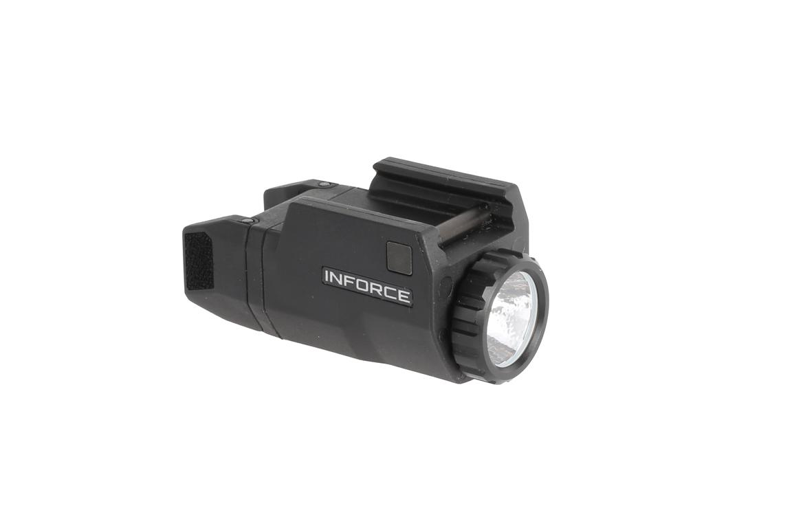 The Inforce APLc is a compact pistol light designed for Glock handguns
