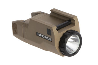 Inforce APLc weapon mounted 200 lumen digital weaponlight for Glocks with a tough composite body compatible with Glock handguns