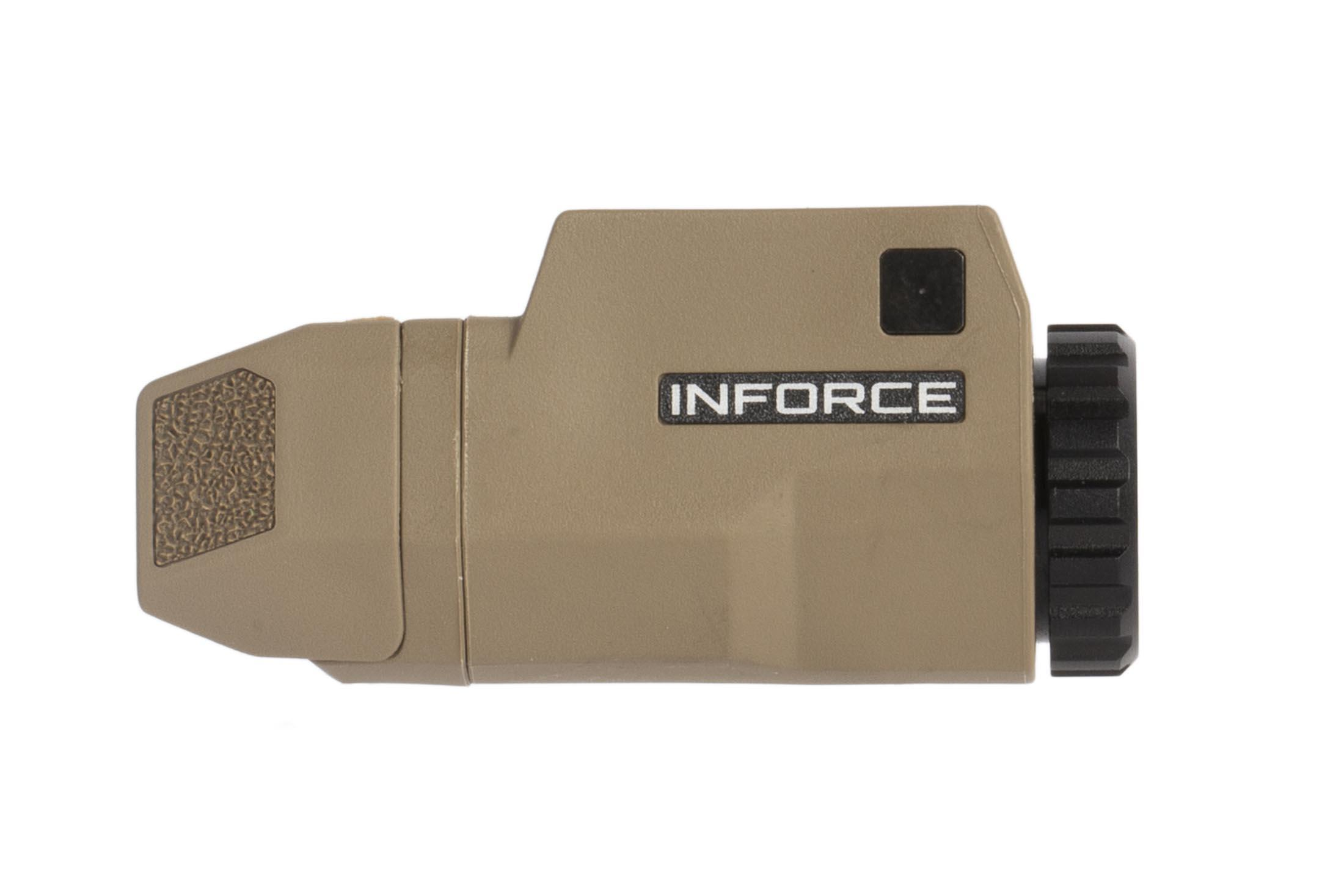 Inforce APLc pistol light is a lightweight and compact option for your favorite Glock handgun with an attractice FDE body