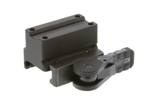 The American Defense QD Trijicon MRO mount is for absolute cowitness