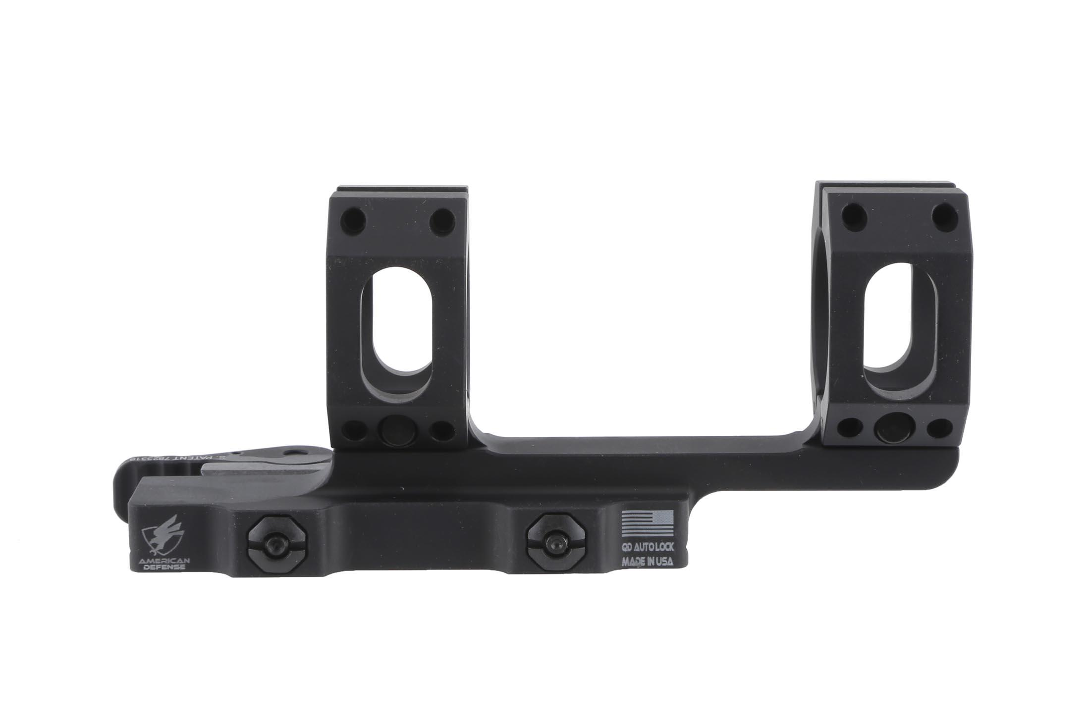 The ADM Recon Mount quick detach 30mm has adjustable tension for different rail specs