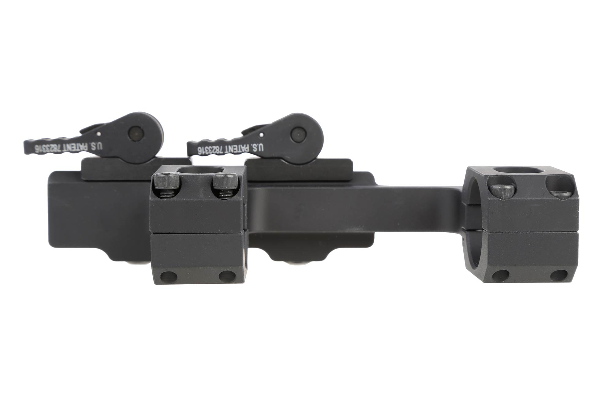ADM Recon High QD scope mount for 1 scopes features vertical rings for improved consistency and a black anodized finish.