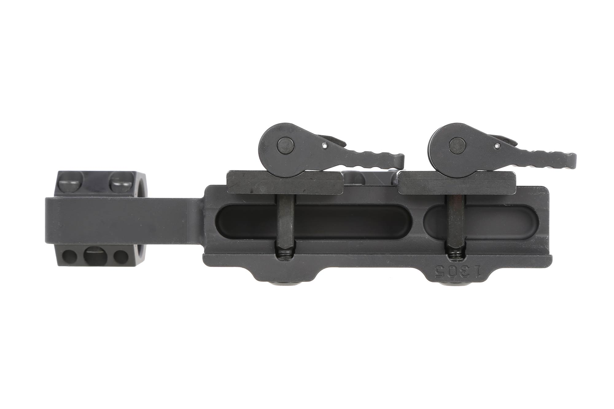 American Defense Recon High scope mount for 1 scopes feautres dual QD levers with square lugs for extra strength.