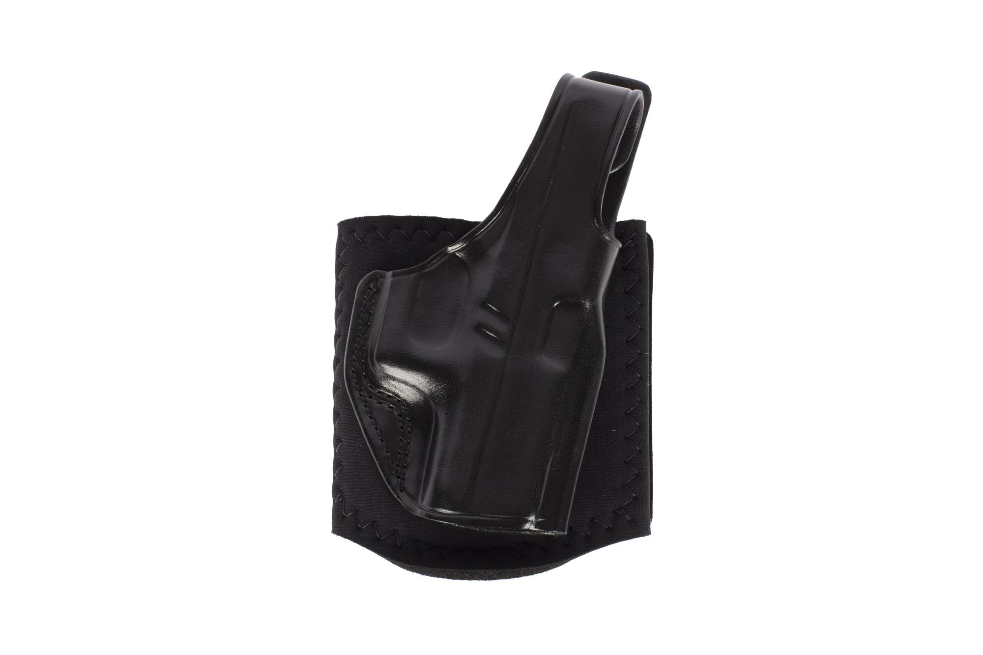 Galco Ankle Glove Holster - GLOCK 43 - Right Hand - Black Leather