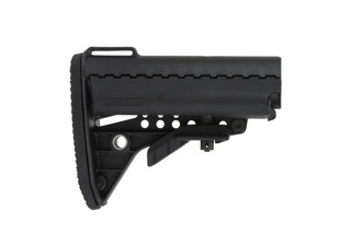 The Vltor Improved Modstock comes in black and comes with a receiver extension