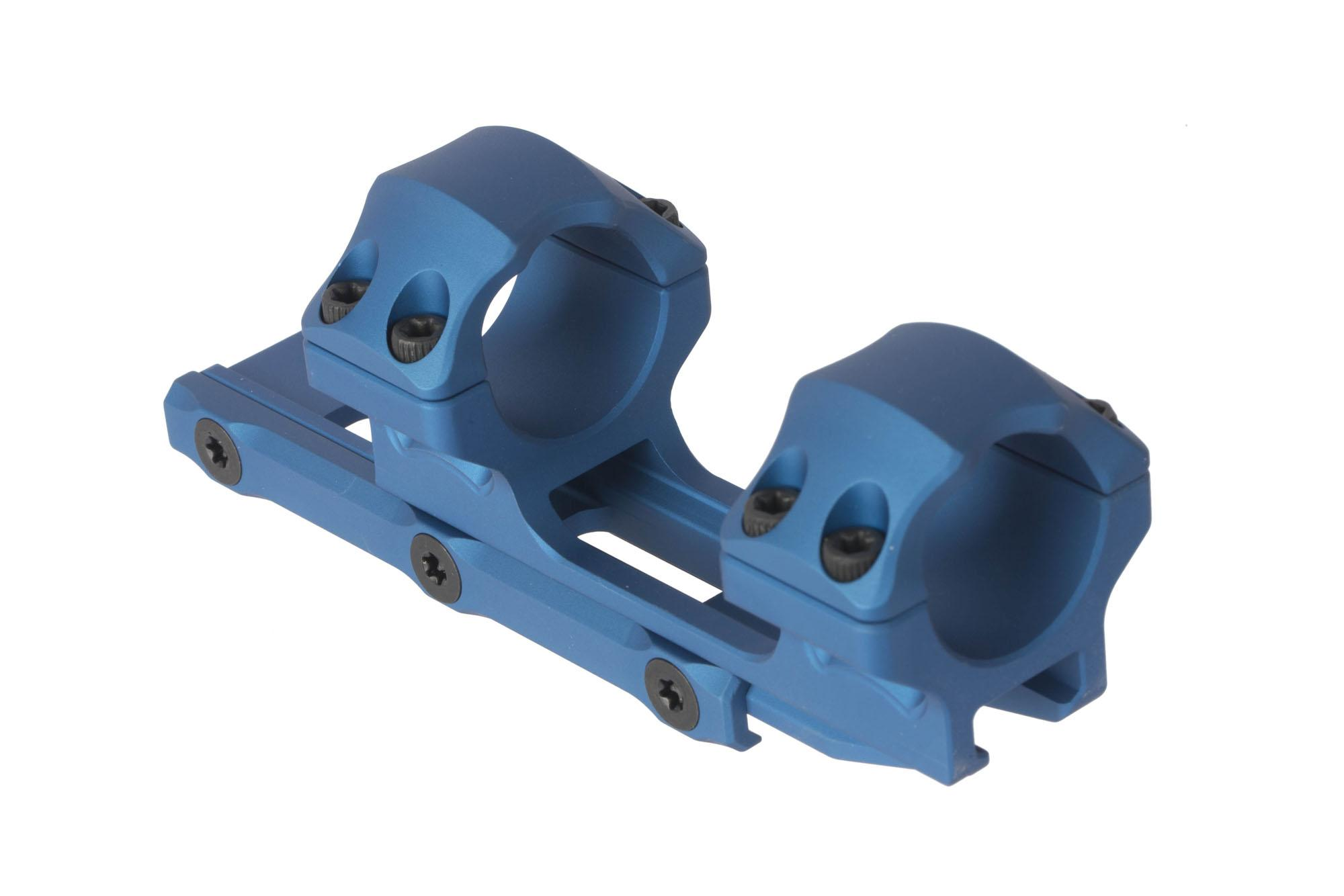 Leapers UTG ACCU-SYNC blue medium height scope mount pushes 1in rifle scopes forward 34mm for proper eye relief
