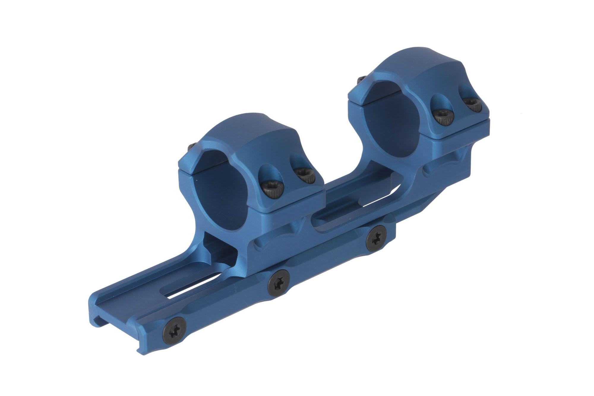 Leapers UTG ACCU-SYNC 1in rifle scope mount with blue medium height rings mounts securely with three cross bolts