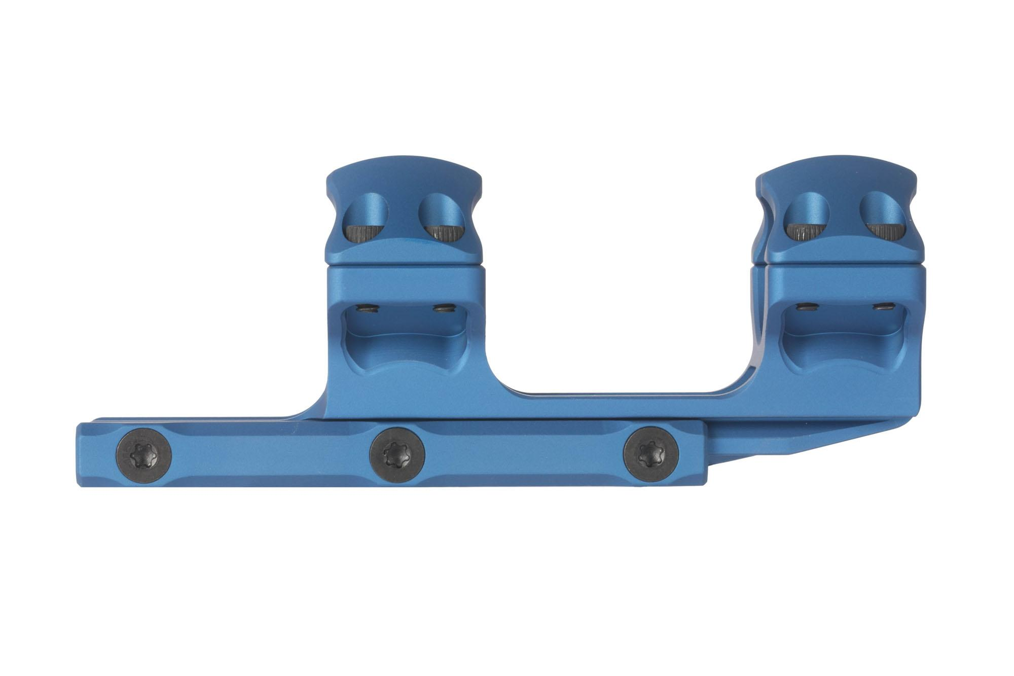 Leapers UTG ACCU-SYNC 1in medium height scope mount is machined from 6061-T6 aluminum with blue anodized finish