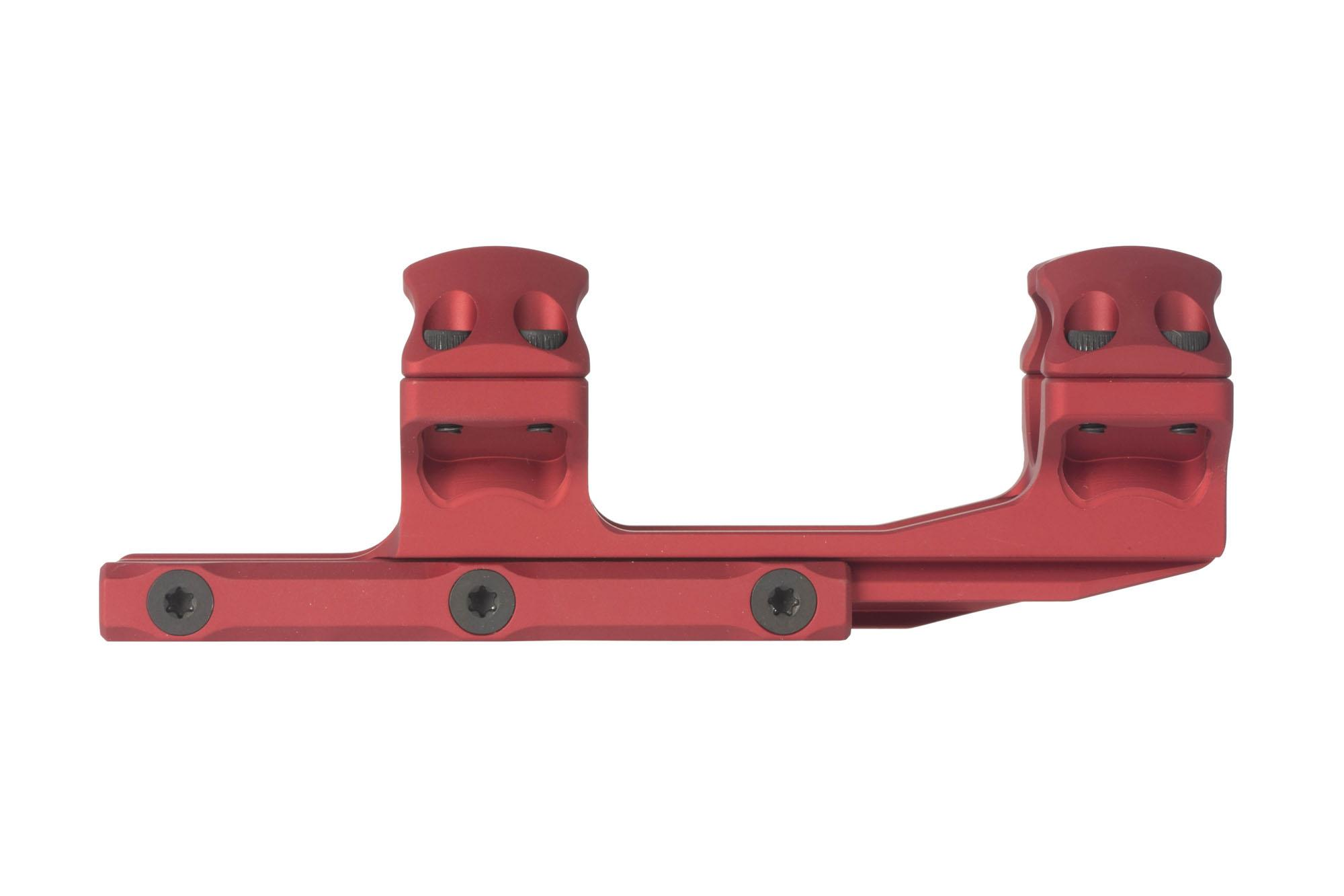 Leapers UTG ACCU-SYNC 1in medium height extended scope mount is machined from 6061-T6 aluminum with red anodized finish