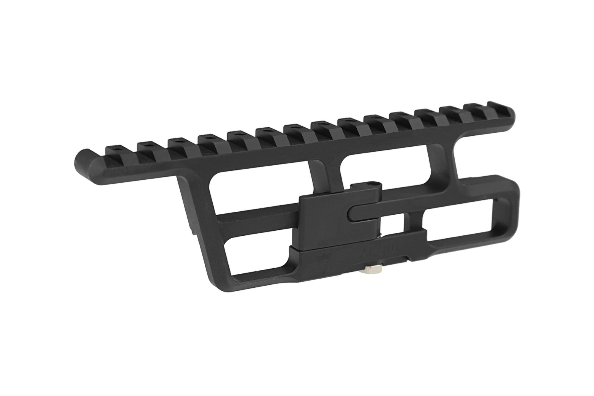 This AK-47 scope mount is designed to attach to a side mount on your Yugo receiver
