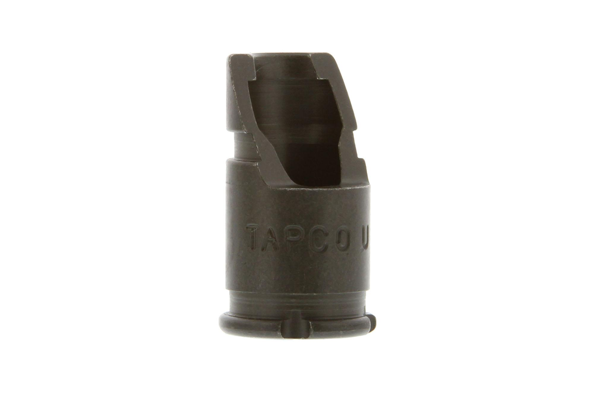 The Tapco AK-47 Slant muzzle brake 14x1 LH helps to reduce muzzle rise
