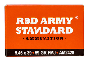Red Army Standard 5.45 Ammunition is made by Vympel in Russia