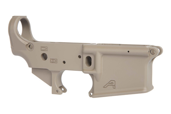 The Aero Precision Stripped AR15 lower receiver flat dark earth is built to Mil-Spec for compatibility