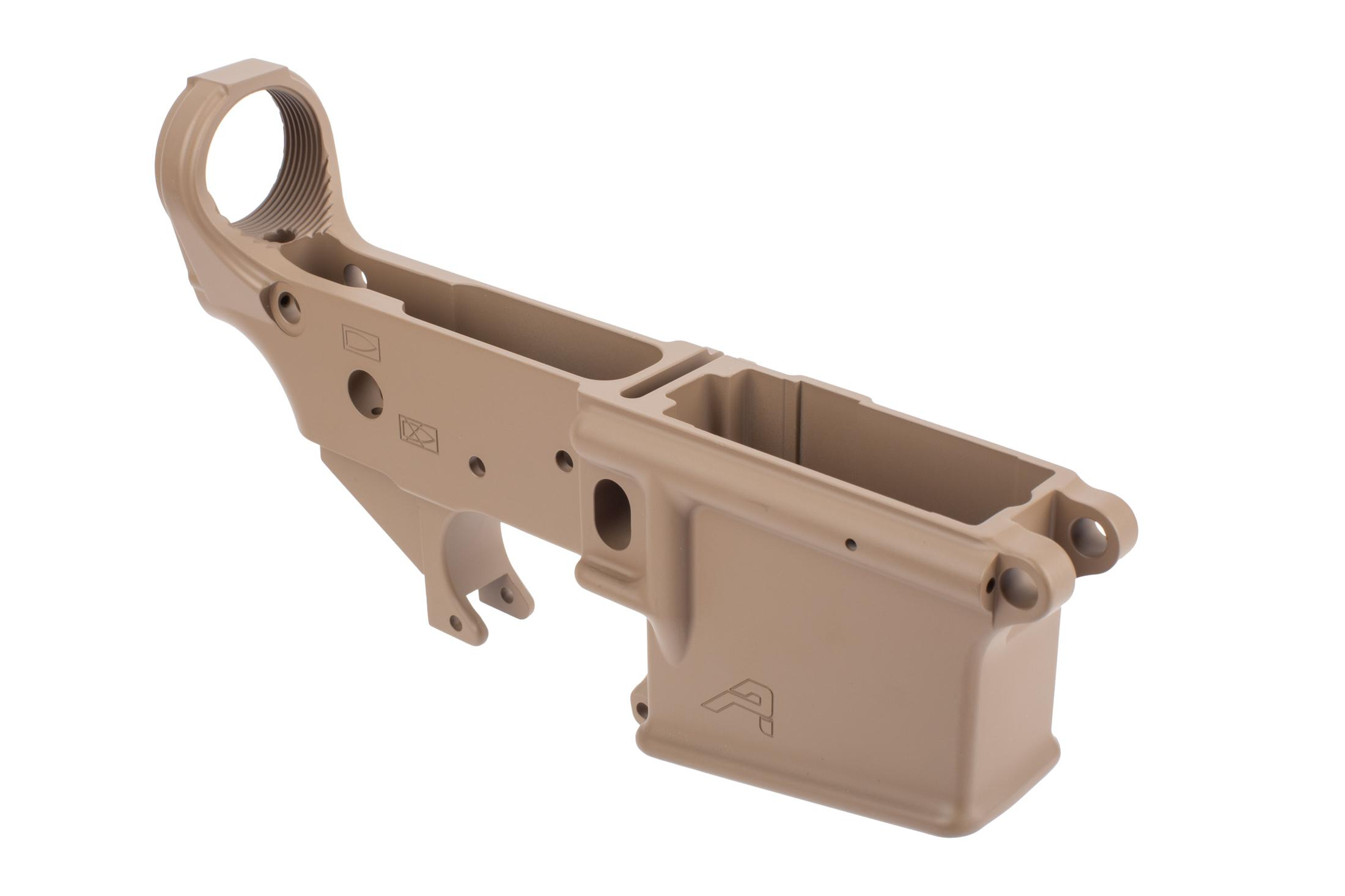 Aero Precision FDE stripped lower marked for ar15 pistols