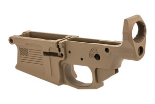 Aero Precision stripped M5 lower receiver for .308 with special edition freedom engraving and fde finish