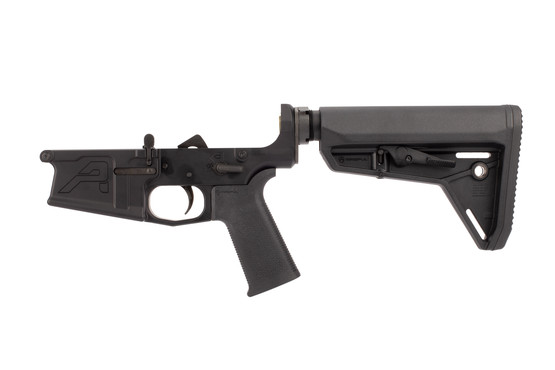 Aero Precision M5 308 Complete Lower Receiver features a black anodized finish