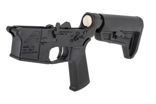 Aero Precision AR15 complete lower receiver features a Magpul MOE SL-K carbine stock