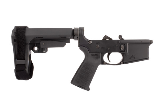 Aero Precision M4 Complete Lower Receiver features a black anodized finish