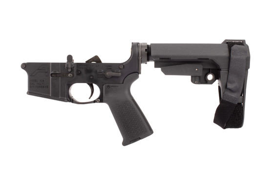Aero Precision AR-15 Complete Lower Receiver features a Magpul MOE pistol grip