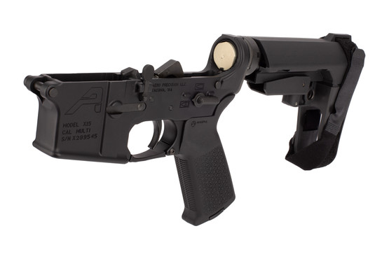 Aero Precision AR15 Pistol Complete Lower Receiver features a carbine buffer weight