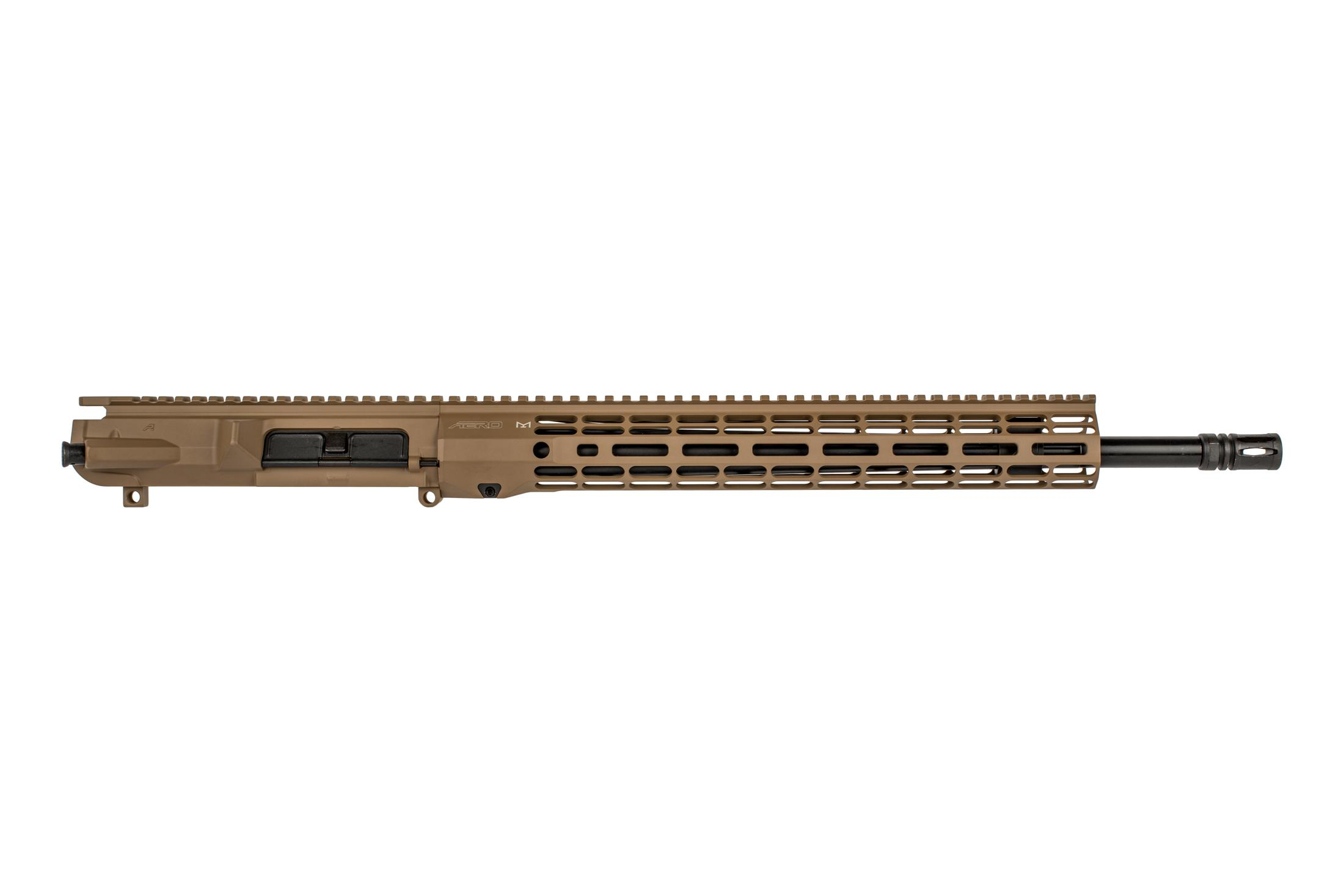 Aero 18 M5 flat dark earth barreled upper receiver in .308 WIN with Atlas R-ONE M-LOK handguard with A2 flash hider