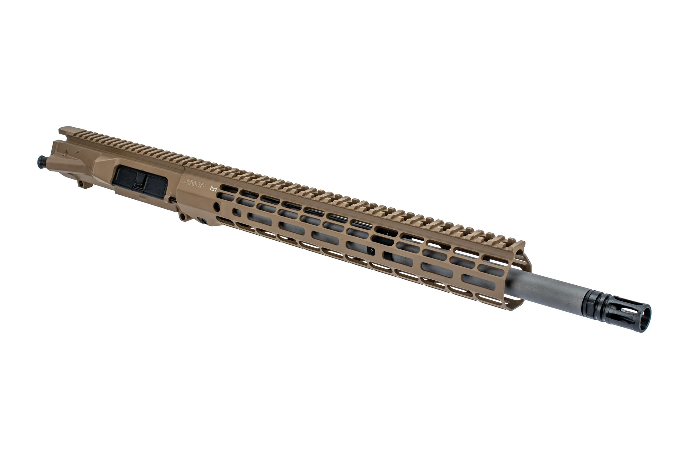 Aero Precision M5 18 barreled upper receiver with 6.5CM chamber mid-length gas system and Atlas R-ONE FDE handguard