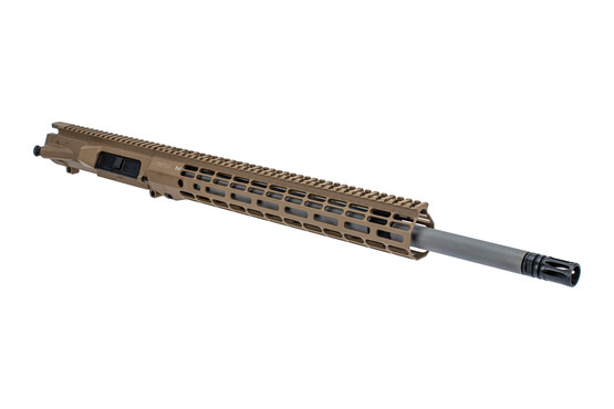 "Aero Precision M5 20"" barreled upper receiver with 6.5CM chamber mid-length gas system and Atlas R-ONE FDE handguard"