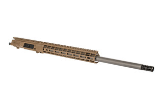 "Aero Precision 24"" FDE M5 barreled upper receiver with 6.5CM chamber, mid-length gas system, and Atlas R-ONE M-LOK rail."