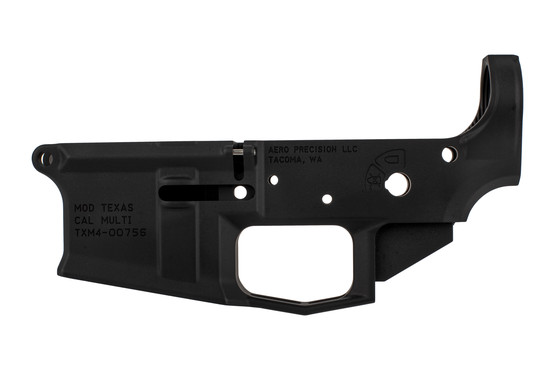 Aero Precision fantastic M4E1 stripped lower receiver with integrated trigger guard, texas edition roll mark