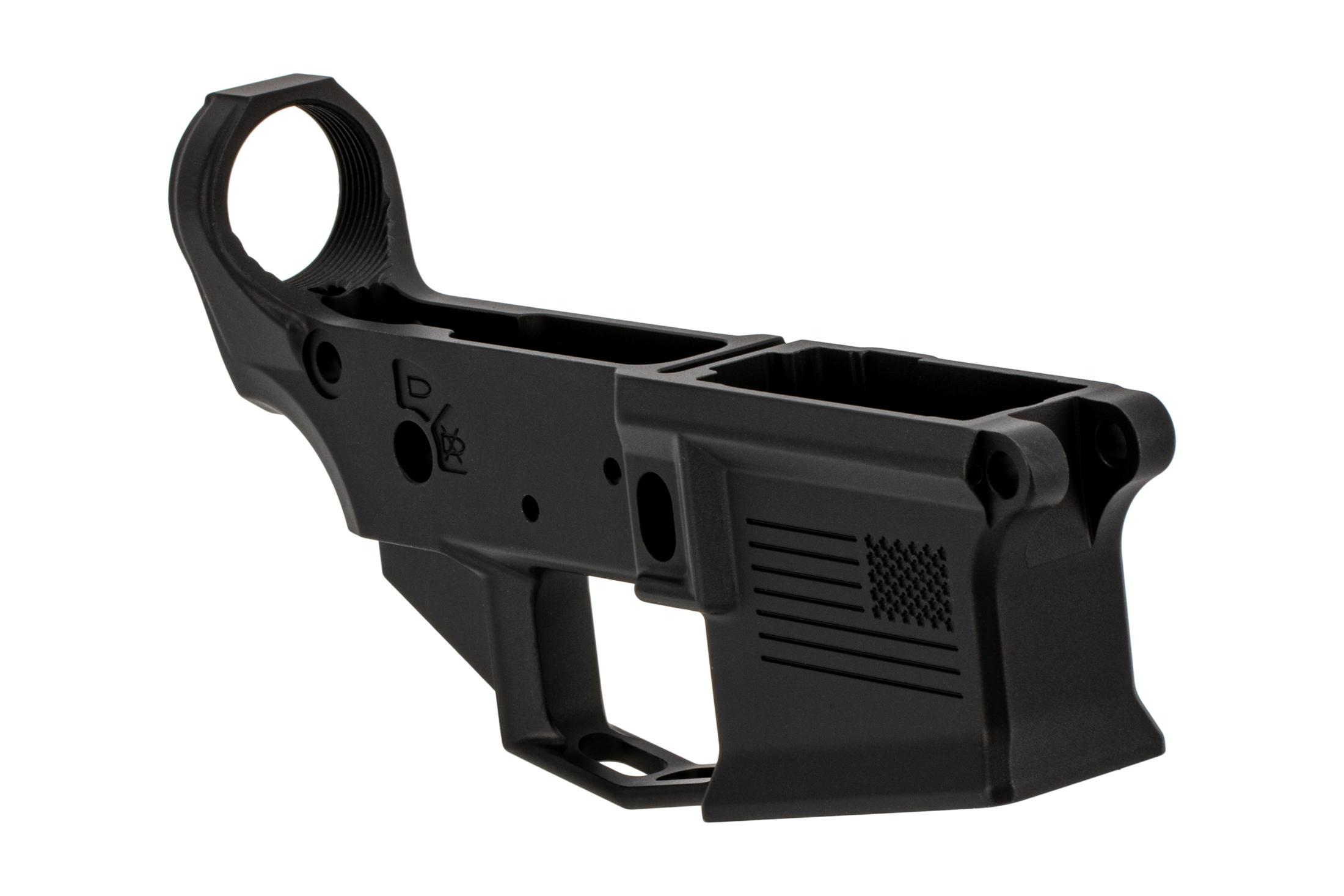 Aero Precision stripped M4E1 lower receiver multical with special edition freedom engraving and black finish