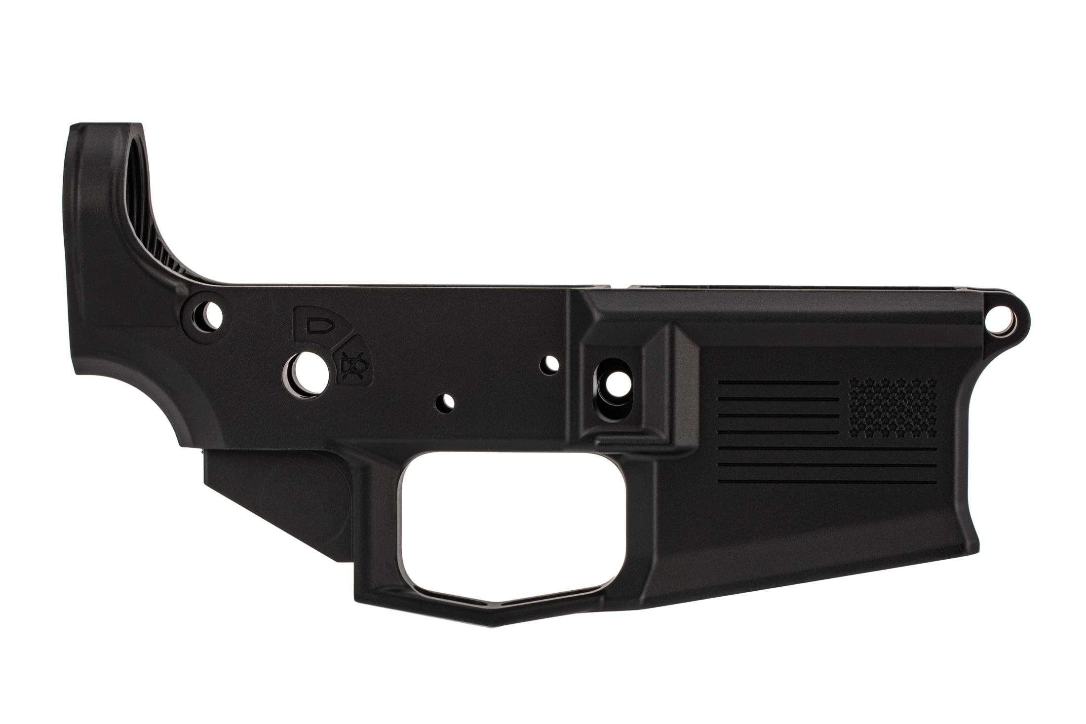 Aero Precision special edition M4E1 stripped AR15 lower with freedom engraving, black finish, and MULTI caliber marking