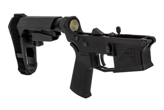 Aero Precision M4E1 pistol arm brace equipped complete lower receiver with SBA3 adjustable brace