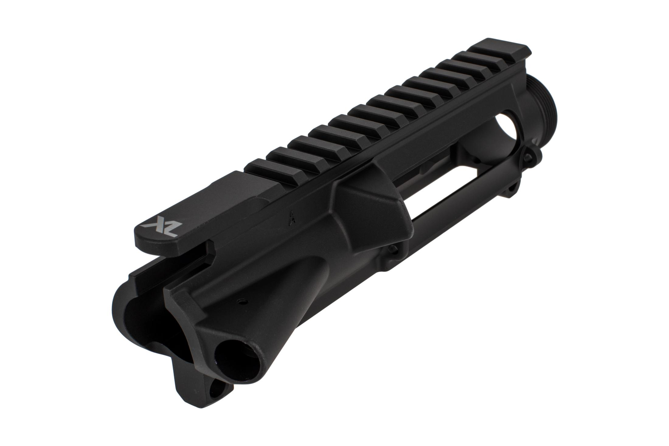The Aero Precision XL AR15 stripped upper receiver features a black hardcoat anodized finish