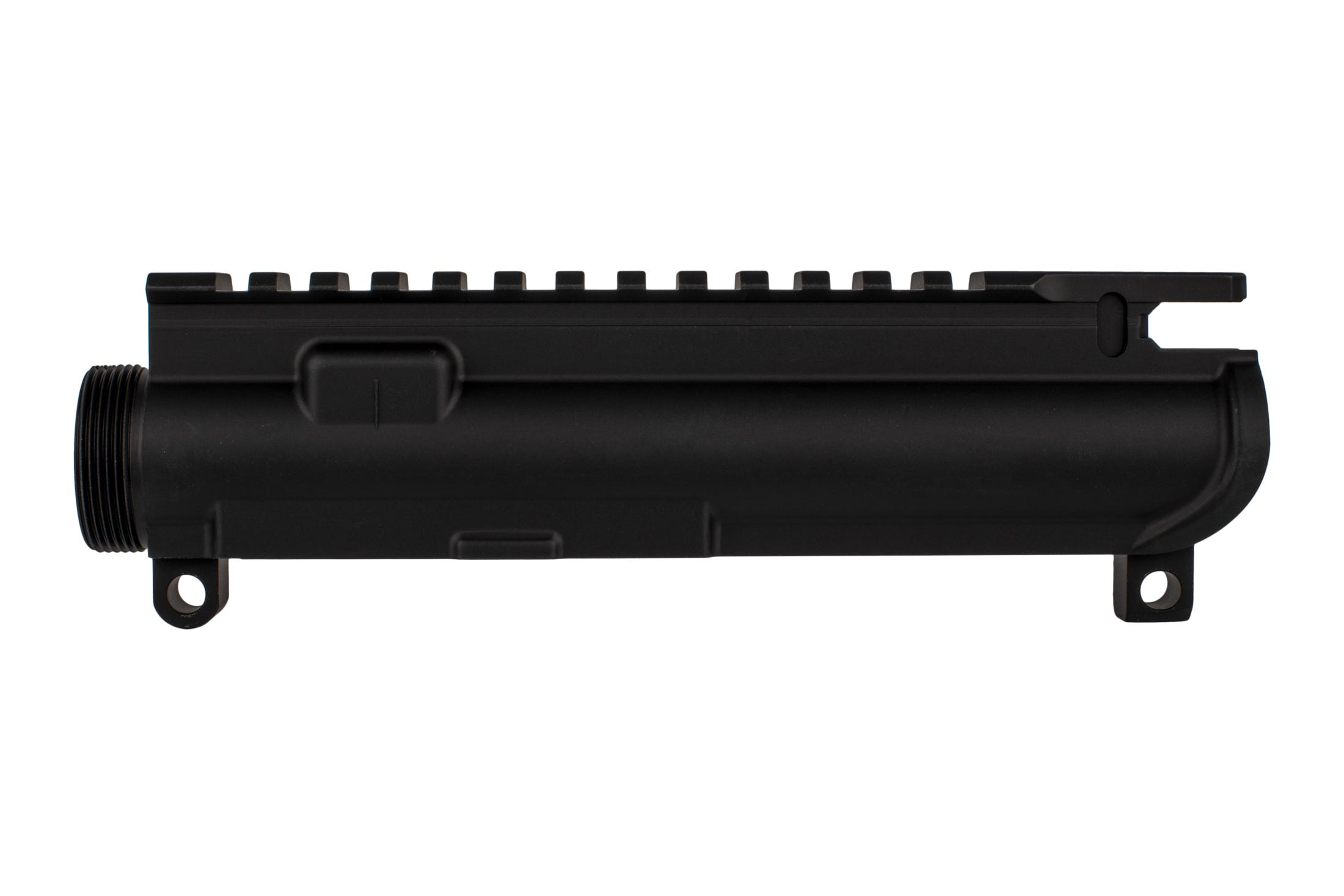 The Aero Precision XL upper stripped receiver AR15 features laser engraved T-marks on the picatinny rail