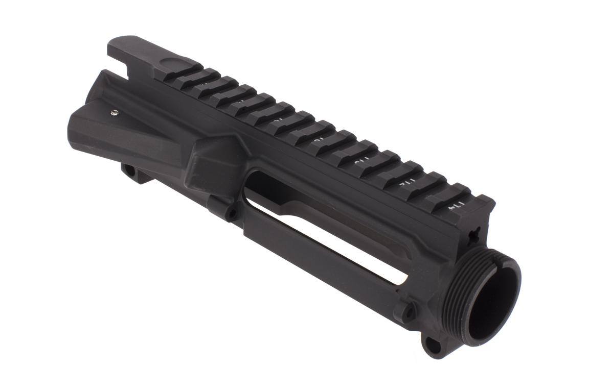 The Aero Precision M4E1 threaded stripped upper receiver is made from 7075 aluminum forgings