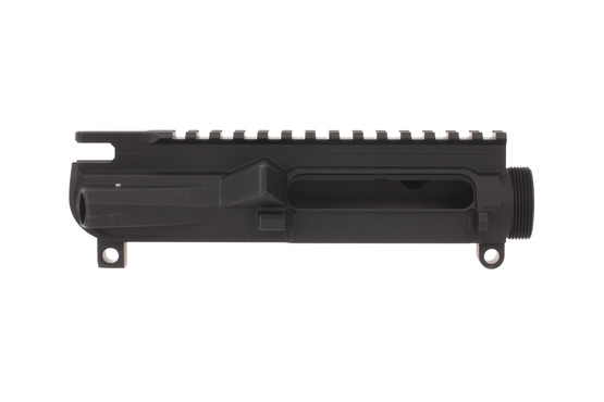The Aero Precision M4E1 Threaded Stripped AR15 upper receiver features a scalloped picatinny rail to reduce weight