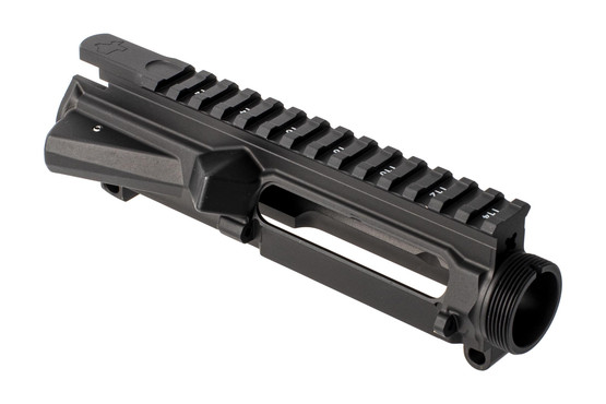 Aero Precision Threaded M4E1 stripped AR15 upper receiver with black finish and Texas Edition engraving