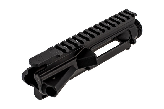 Aero Precision Texas Edition M4E1 threaded stripped upper in black features a threaded forward assist retaining pin