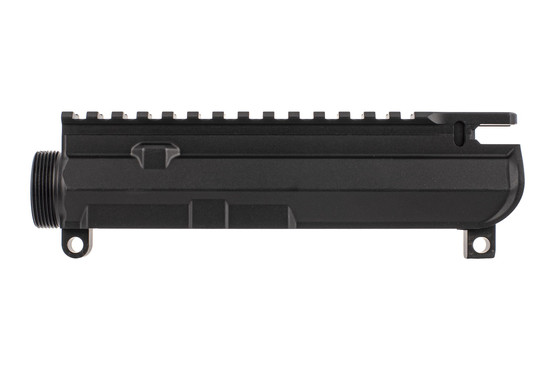 Aero Precision M4E1 threaded upper receiver in black is compatible with your favorite parts with a lightened top rail