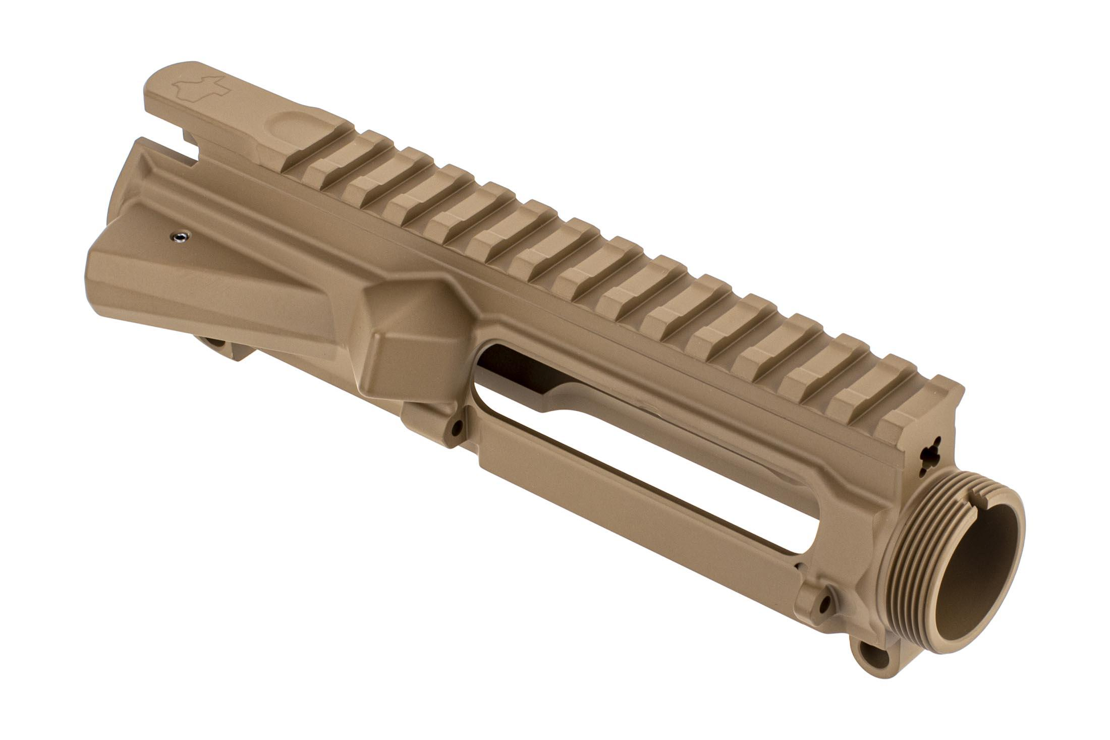 Aero Precision Threaded M4E1 stripped AR15 upper receiver with Flat Dark Earth finish and Texas Edition engraving