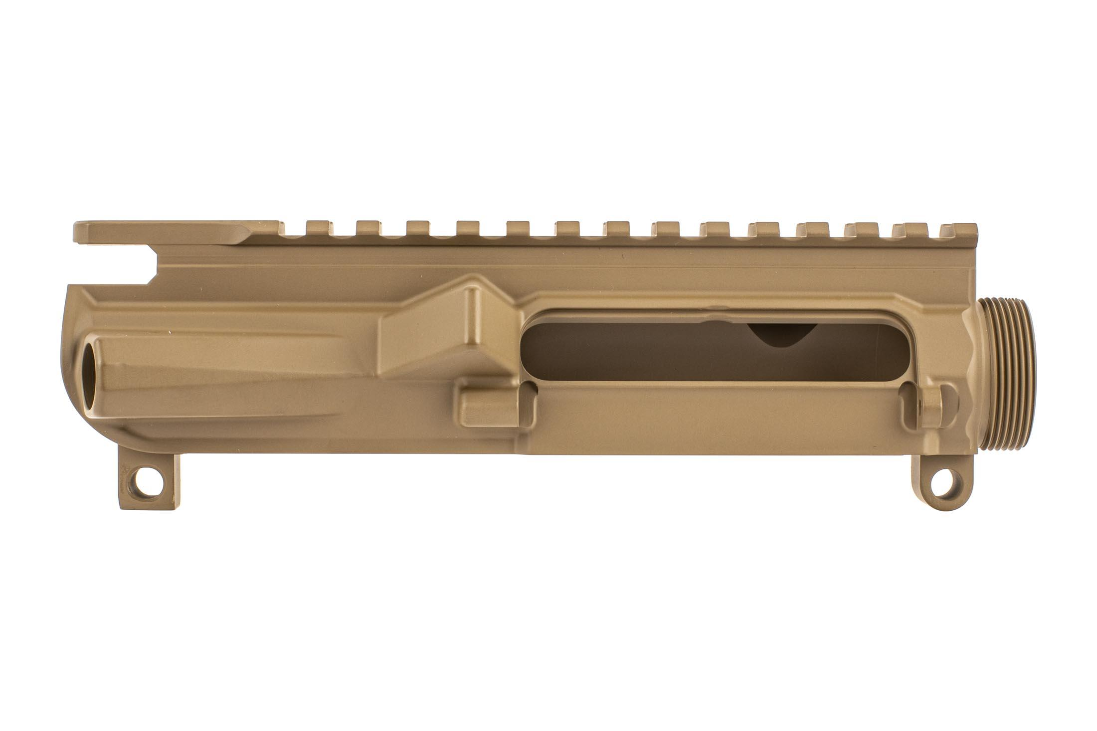 Aero Precision M4E1 threaded stripped upper receiver with Texas edition engraving in FDE