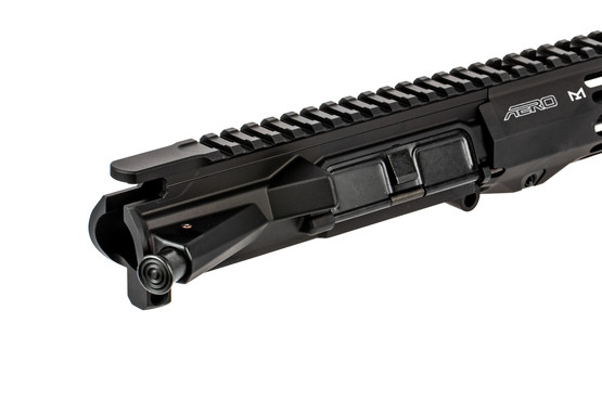 The Aero Precision Threaded M4E1 upper receiver assembly does not come with bolt carrier group or charging handle
