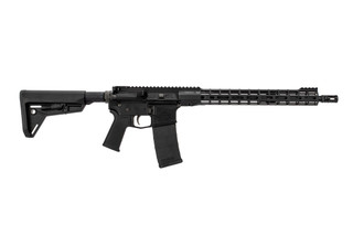 "Aero Precision M4E1 5.56 NATO Mid-length carbine is equipped with a 15"" M-LOK S-ONE handguard and MOE-SL stock."