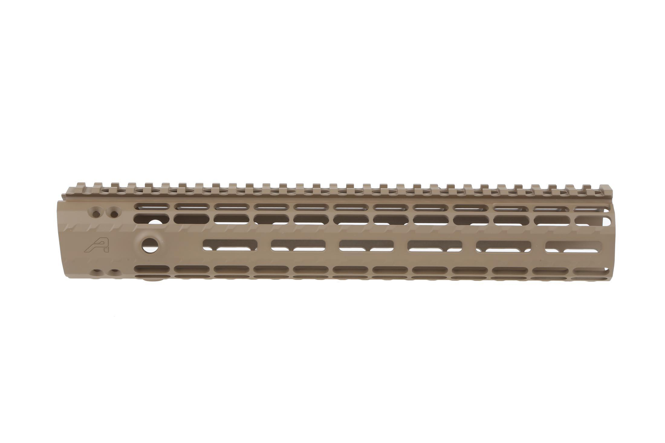 The Aero Precision 12in AR-15 Enhanced M-LOK Handguard comes in fde cerakote