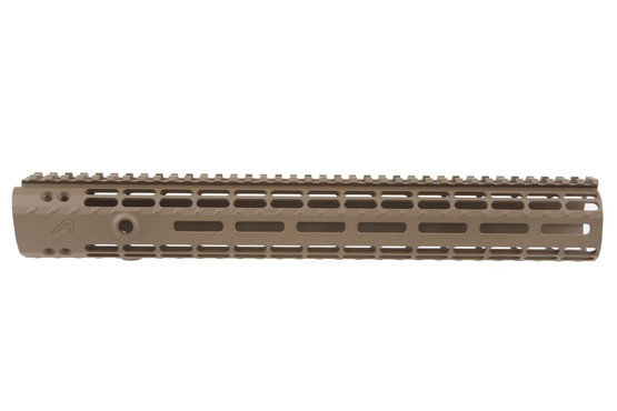 "Aero Precision 12"" Gen 2 Enhanced AR-15 Handguard accepts M-LOK accessories. Flat Dark Earth Cerakote finish."