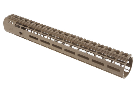 "Aero Precision rifle length 12"" AR-15 Gen 2 Enhanced M-LOK rail with FDE finish fits most BAR-style barrel nuts"