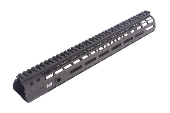 The Aero Precision M5 handguard has a scalloped picatinny rail to decrease weight
