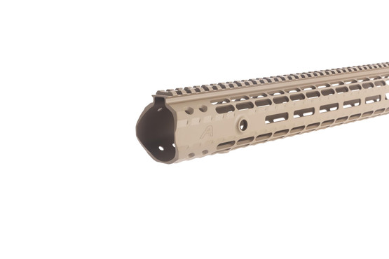 The Aero Precision M5 enhanced free float handguard comes with a flat dark earth Cerakote finish