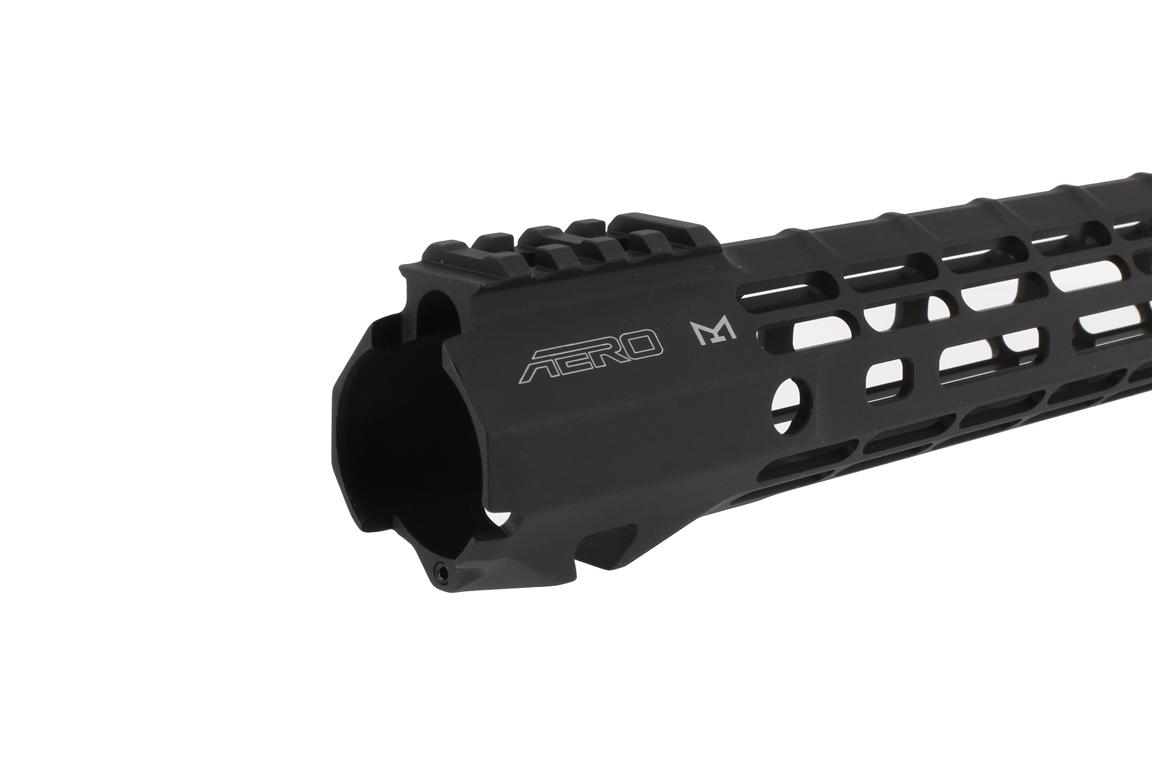 The Aero Precision ATLAS S ONE free float handguard features a QD sling swivel slot